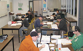 tutoring session at Trades Access