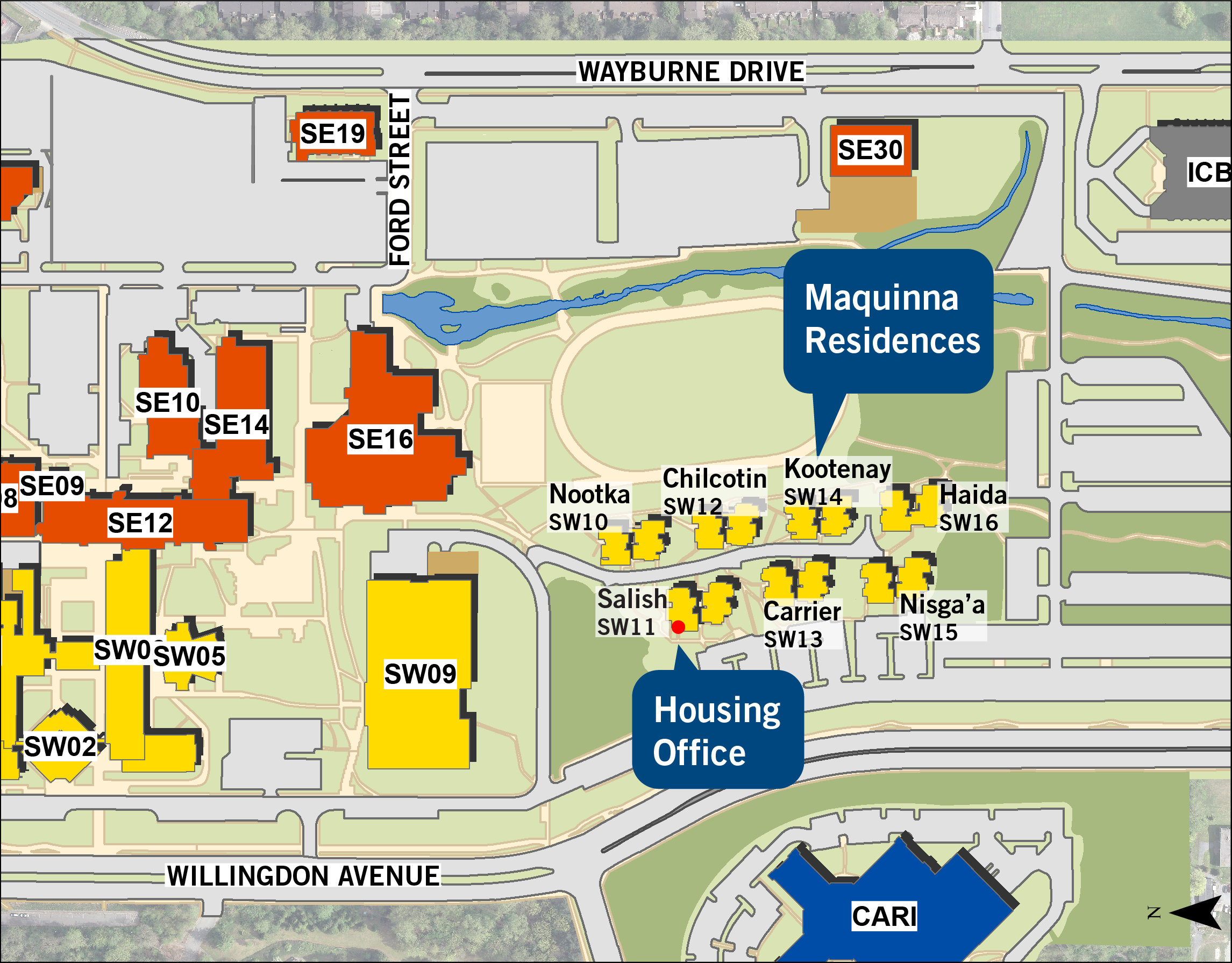 Bcit Burnaby Campus Map BCIT : : Student Housing : :
