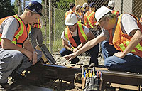 hands on railway training at BCIT