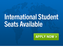 International Student Seats Available.  Apply now.