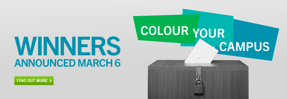 Color Your Campus Contest. Winner Announced March 6. Find out more.