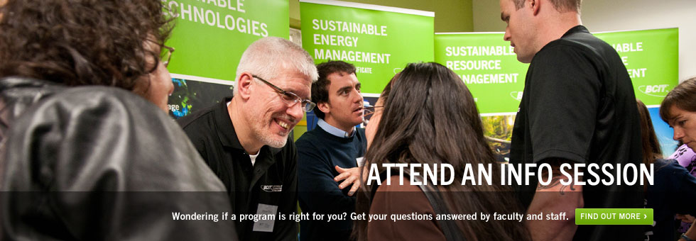 Attend an info session. Wondering if a program is right for you? Get your questions answered by faculty and staff. Find out more.