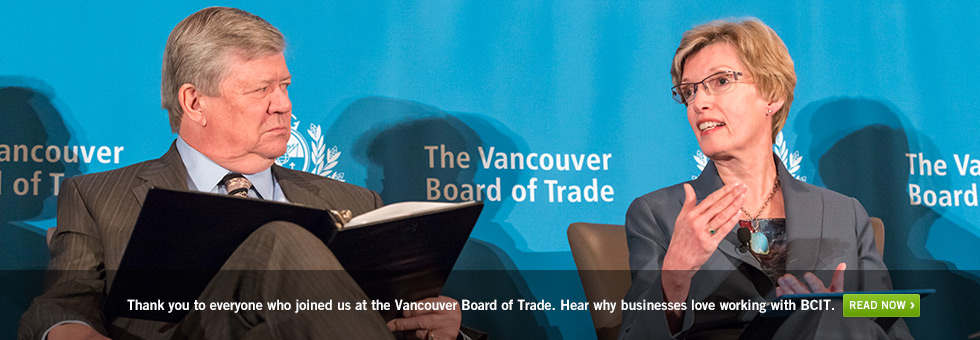 Thank you to everyone who joined us at the Vancouver Board of Trade. Hear why businesses love working with BCIT.  Read now.