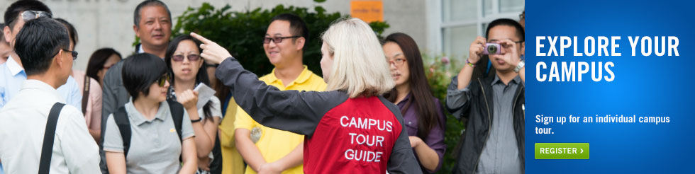 Campus Tours - Register for an individual tour