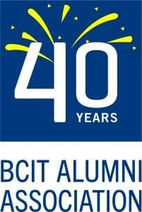 BCIT Alumni Association 40th anniversary logo