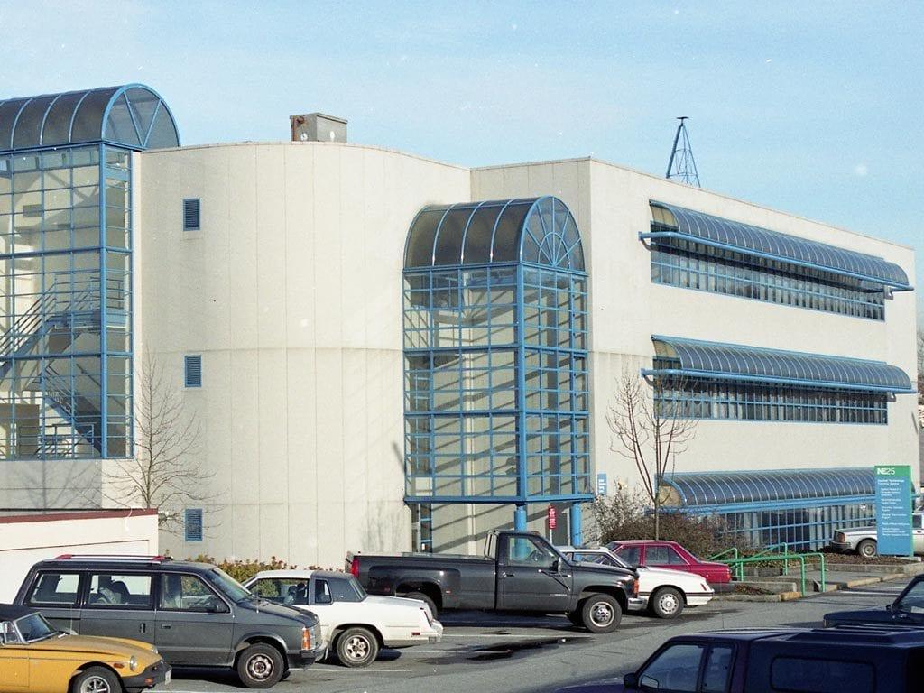 BCIT building NE25 in 1989