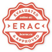 "Seal approval saying ""evaluated * approved online at: ERAC bceroc.ca"