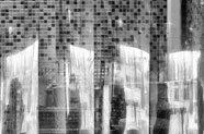 Image of freezer curtains in walk-in freezer.