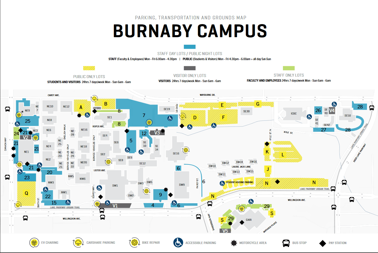 Burnaby parking map