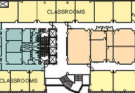 Large diagram showing layout of campus space planning.