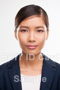 BCIT id card sample photo of a woman
