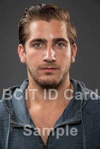 BCIT id card sample photo of a man