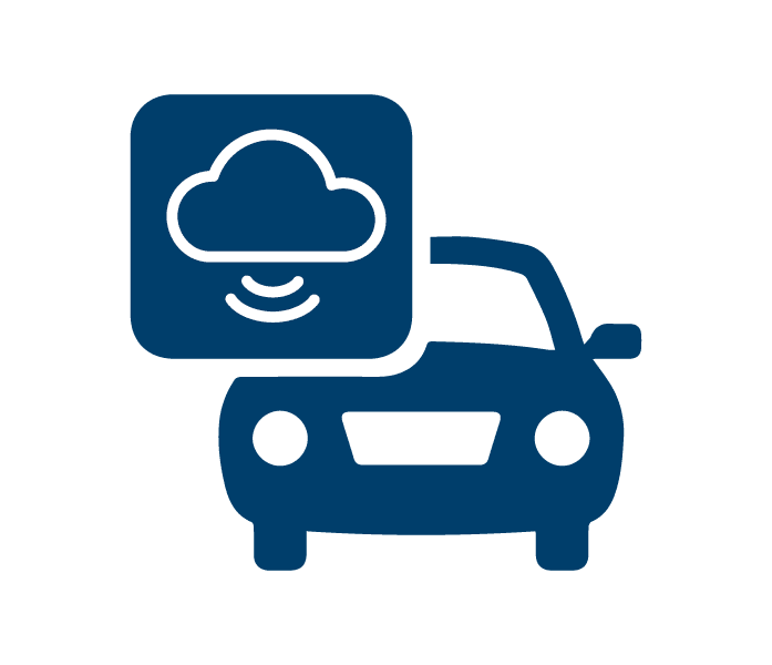 Car sharing logo - blue car