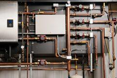 Image of condensing boiler.