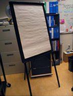 Flip chart stand.