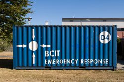 Blue BCIT Emergency Response depot.