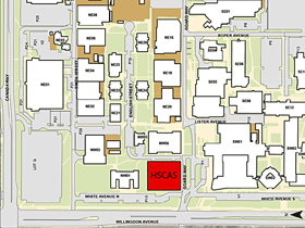 Thumbnail image of the health sciences centre location map.