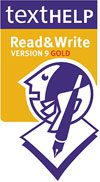 Logo for read & write reading & writing support.