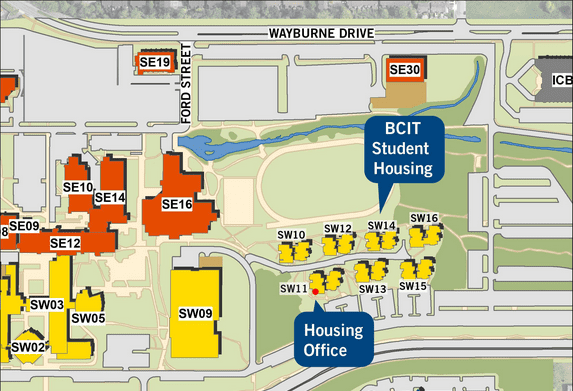 Housing campus map.