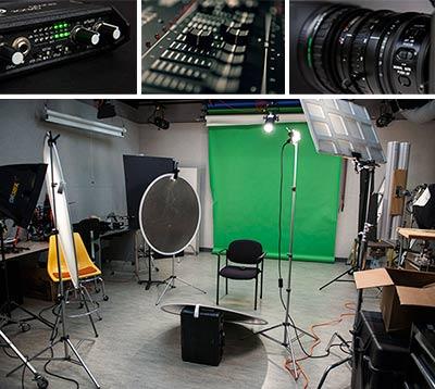 Media production photos.