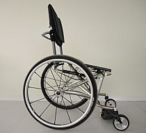 Photo of a prototype3 wheelchair.