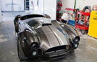 Fancy silver sportscar