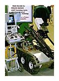 robotic wheeled apparatus with stand alone control box.