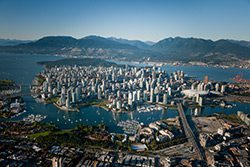 aerial view of Vancouver.