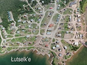 aerial photo of community houses and roads