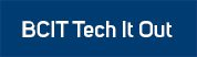 BCIT Tech It Out header white on blue background