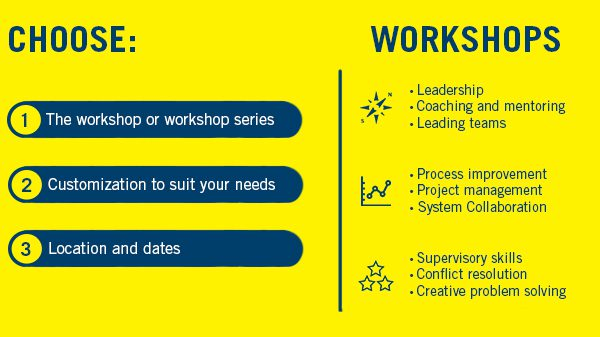notice block to choose workshops in yellow and blue.