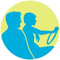 Image of two people carpooling.