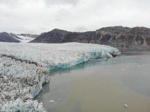 Glacier along waterway