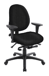 ergoCentric geoCentric black office chair.