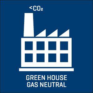 Greenhouse gas neutral icon.