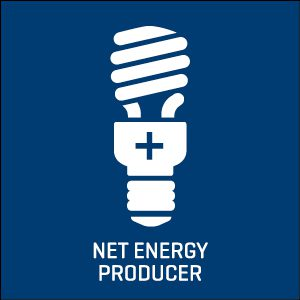 Net energy producer icon.