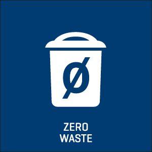 Zero waste icon.