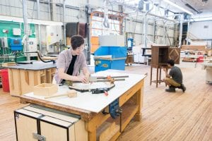 Learning joinery at BCIT