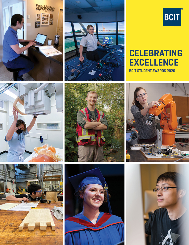 Cover of BCIT 2020 Celebration of Excellence awards.