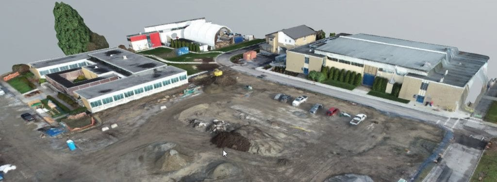 3D model of construction site for Health Sciences Centre