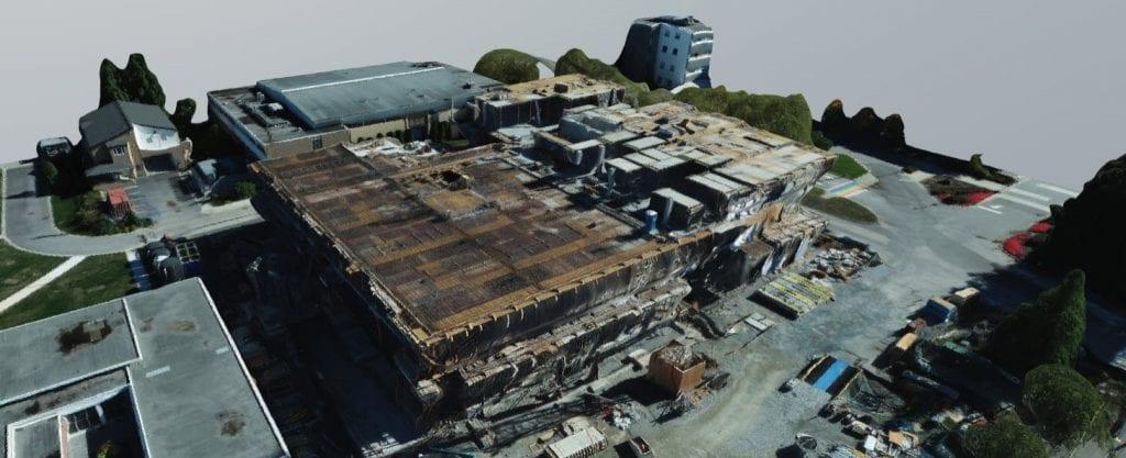 3D model of construction site Health Sciences Centre Oct 2020