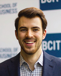 Hunter Van Dyke, recipient of BCIT Board of Governors' Award for Leadership