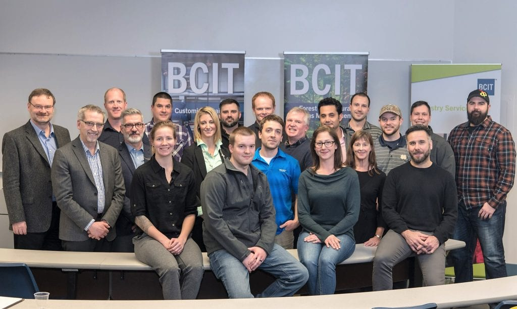 group photo of IWP students and BCIT faculty and staff
