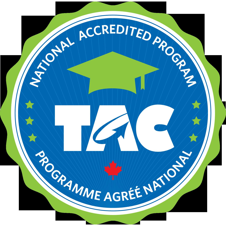image of Technology Accreditation Canada logo.