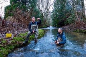 2 people at Guichon Creek