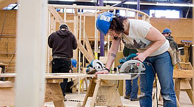 Learning the skills for a career in carpentry