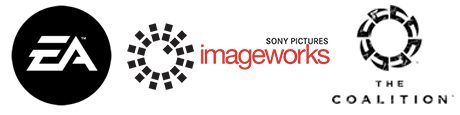 EA, Sony Pictures Imageworks and The Coalition logos.