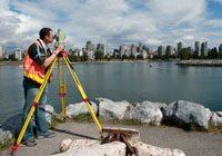surveying student