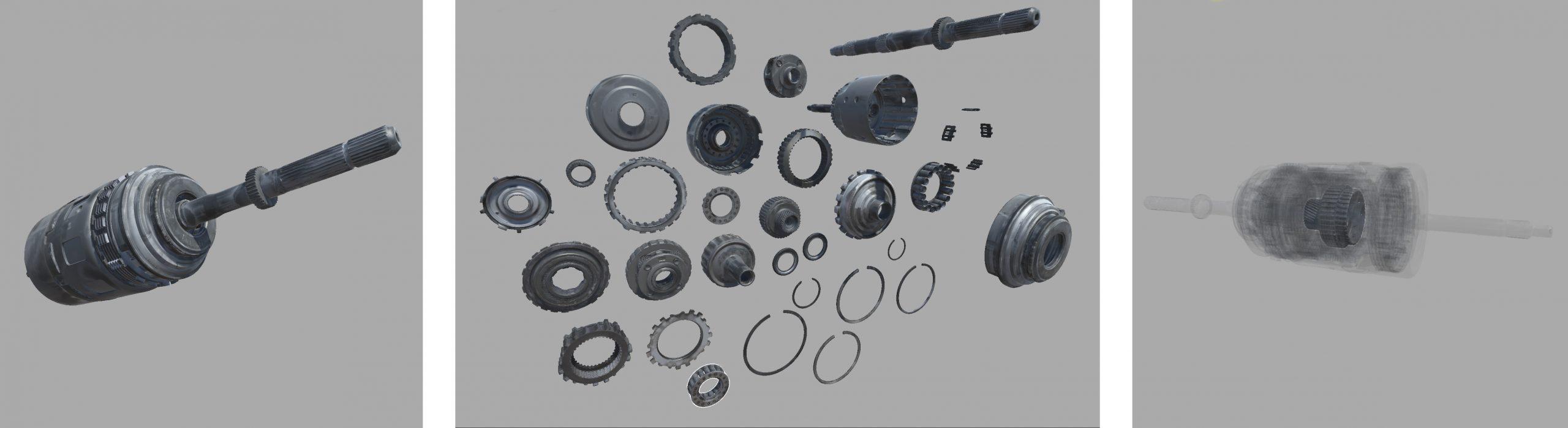 3d parts of a automotive transmission