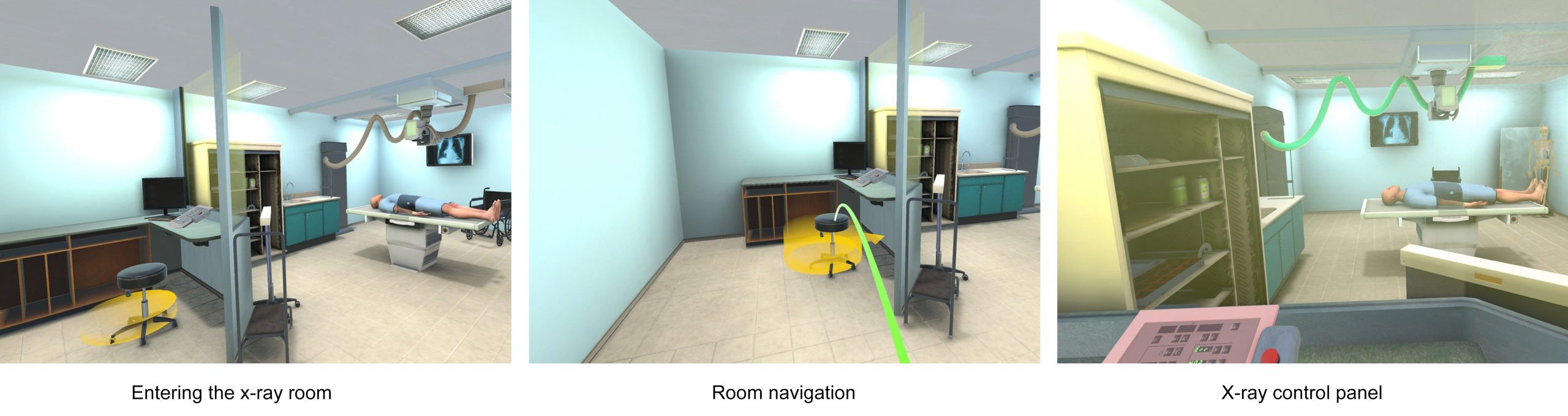 guided vr experience of xray production